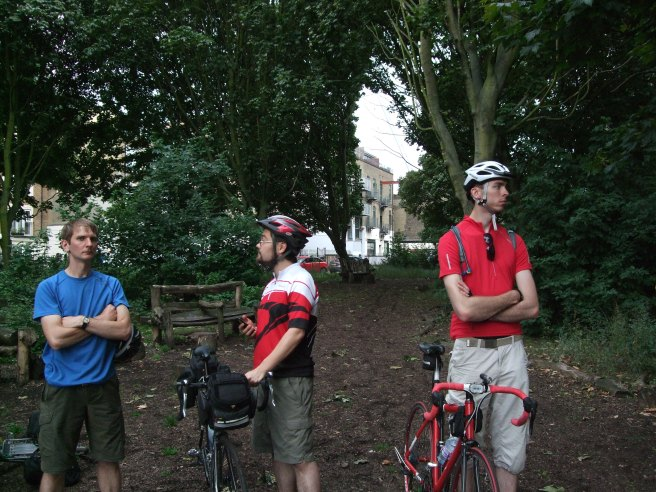 James and his mates in London Fields
