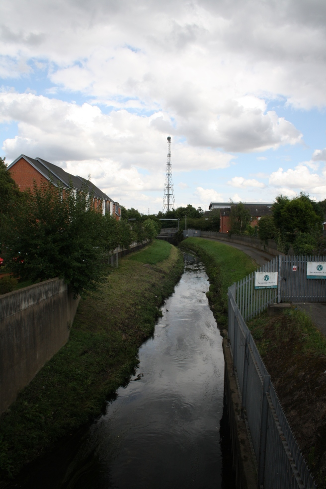 looking along today's River Leen from the Johnson Arms, this used to be the Nottingham Canal