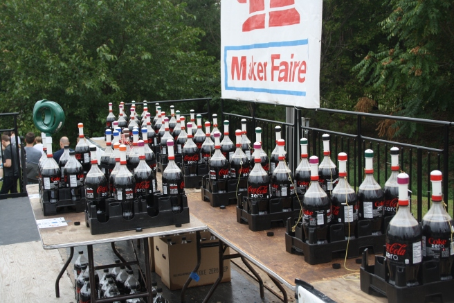 Coke & Mentos ready to go for Eepybirds Stephen and Fritz