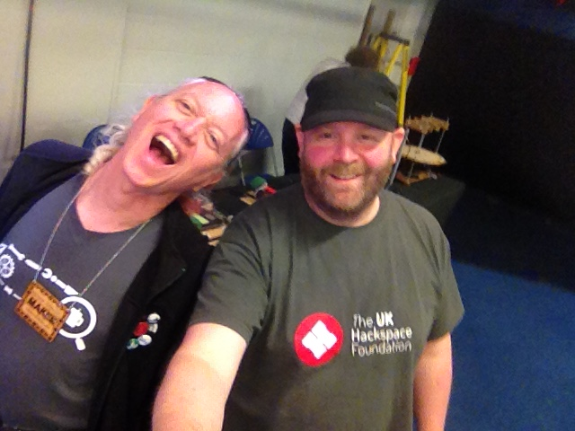 Me n Mitch Altman of Noisebridge
